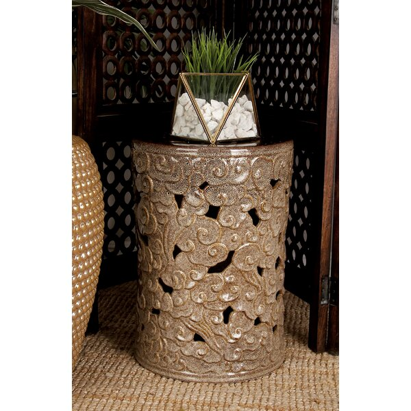 Ceramic Scroll Garden Stool by Cole & Grey
