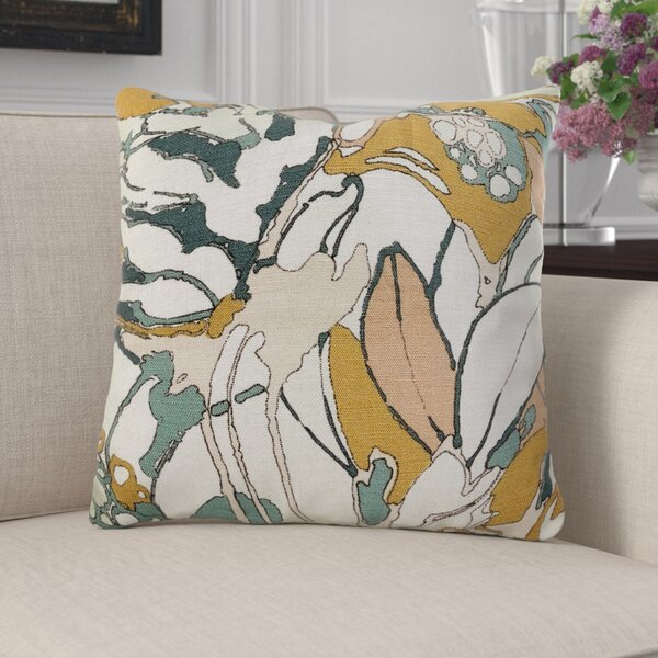 Kastelholm Floral Luxury Pillow by Canora Grey