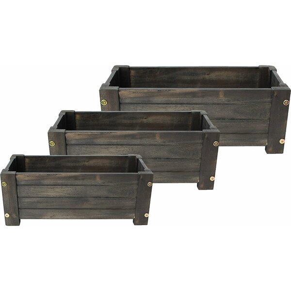 Doughty Wood Barrel 3-Piece Planter Box by Gracie Oaks