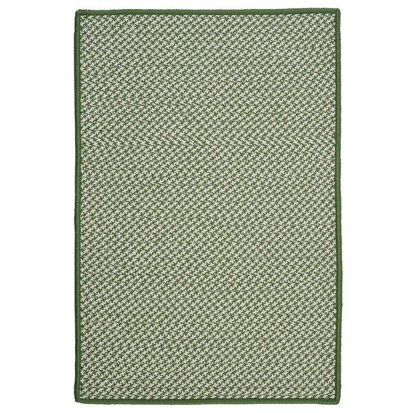 Outdoor Houndstooth Tweed Leaf Green Rug by Colonial Mills