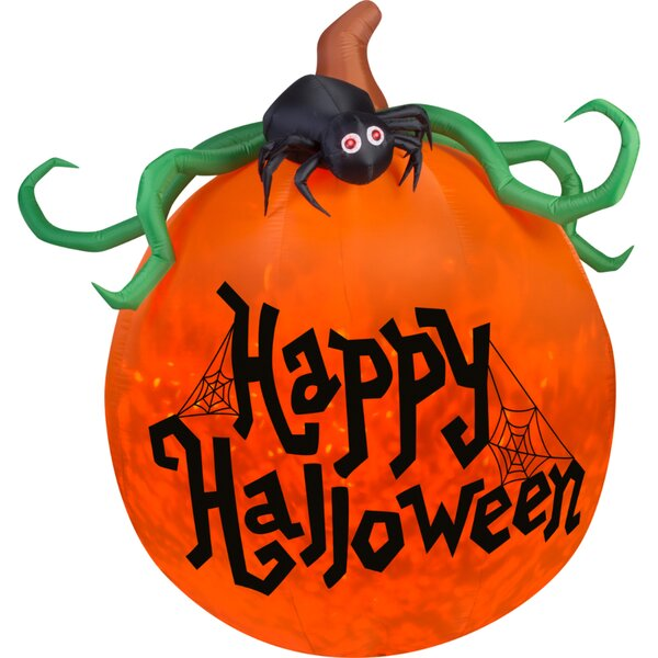Airblown Inflatables Projection Kaleidoscope Happy Halloween Pumpkin by The Holiday Aisle