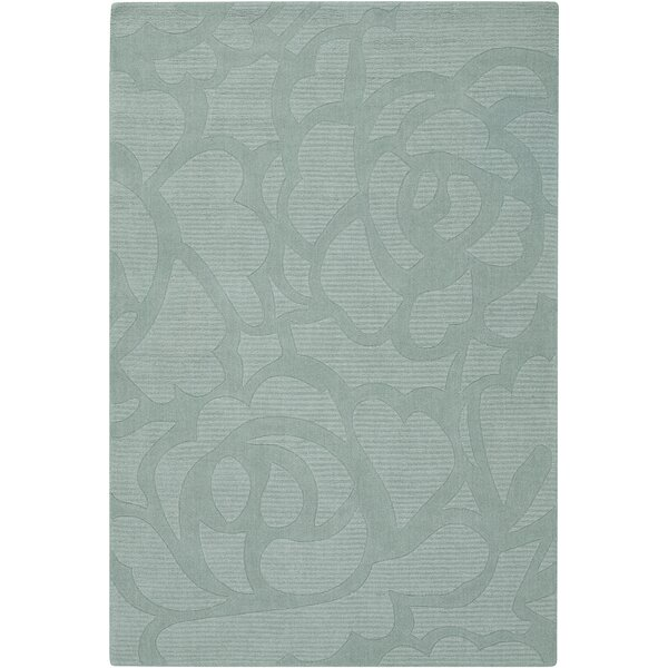 Mali Blue Floral Area Rug by Rosdorf Park
