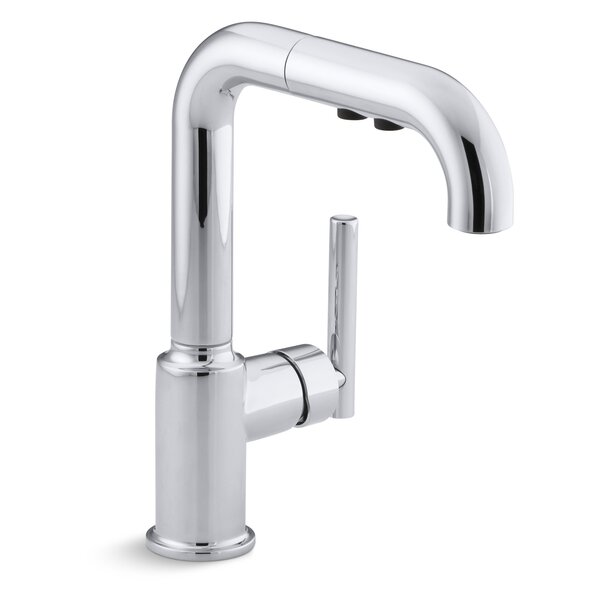 Purist® Single-Hole Kitchen Sink Faucet with 7 Pullout Spout with ProMotion™ by Kohler