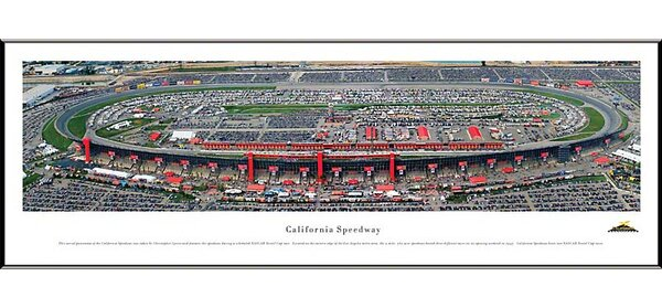 NASCAR Speedway Standard Framed Photographic Print by Blakeway Worldwide Panoramas, Inc