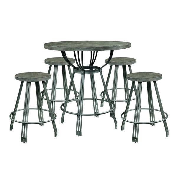 Farnsworth 5 Piece Counter Height Dining Set by Williston Forge Williston Forge