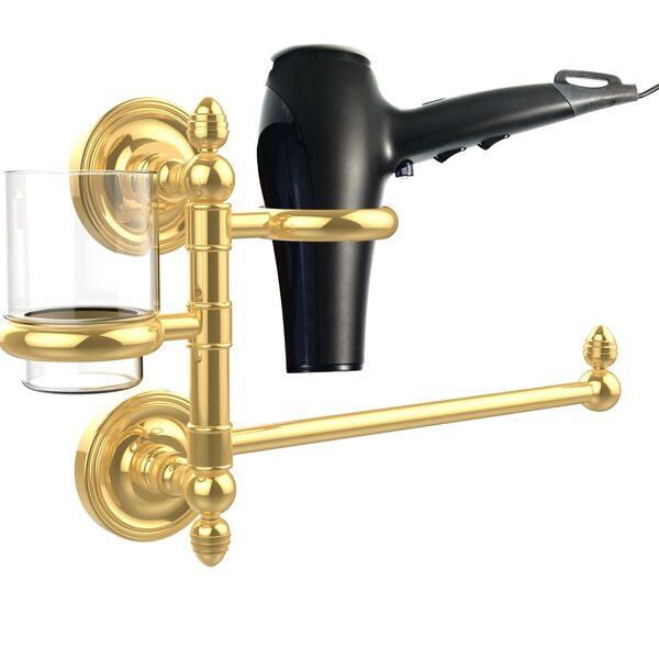 Prestige Regal Hair Tool & Tumbler Holder by Allied Brass