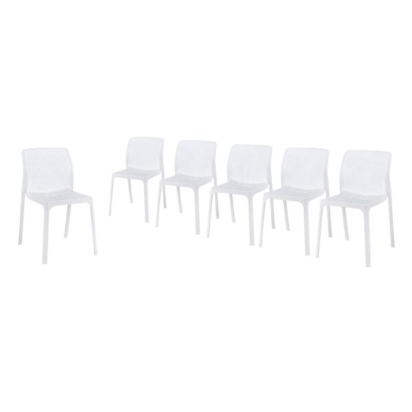 Emrich Outdoor Stacking Patio Dining Chair (Set Of 6) By Orren Ellis