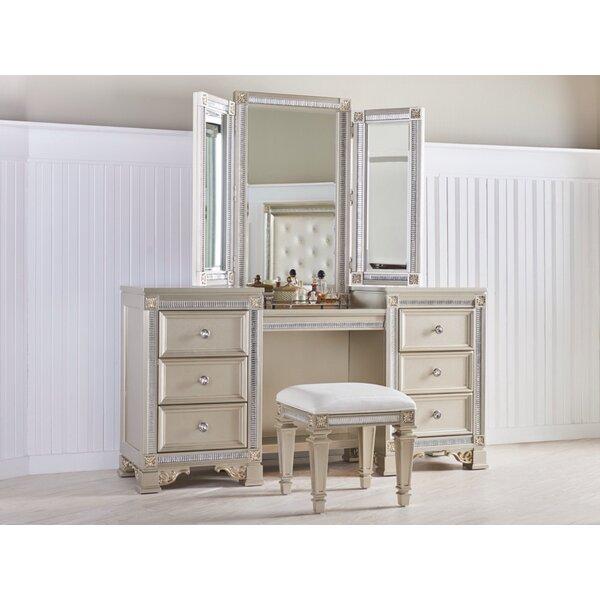 Macedo Vanity With Mirror By Rosdorf Park Fresh