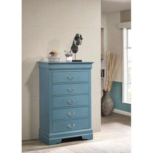 Louis Phillipe 5 Drawer Chest by Bolt Furniture