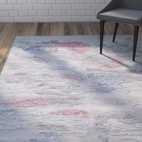 Vallone Hand-Tufted Gray Area Rug by Wrought Studio