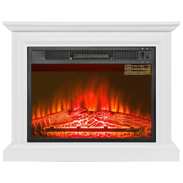 Wooden Mantel Electric Fireplace by AKDY