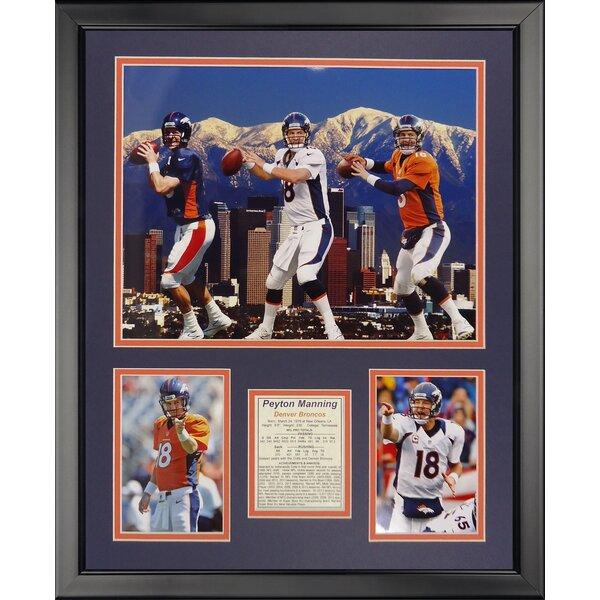 NFL Denver Broncos - Manning Collage Framed Memorabili by Legends Never Die