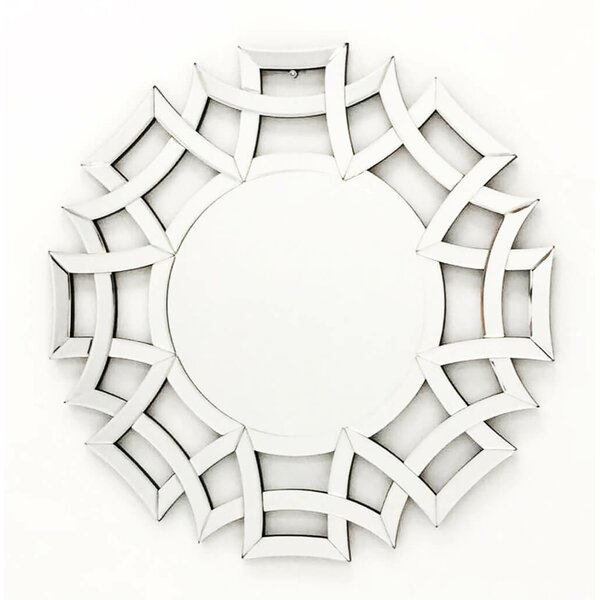 The Far East Round Wall Mirror by Fab Glass and Mirror
