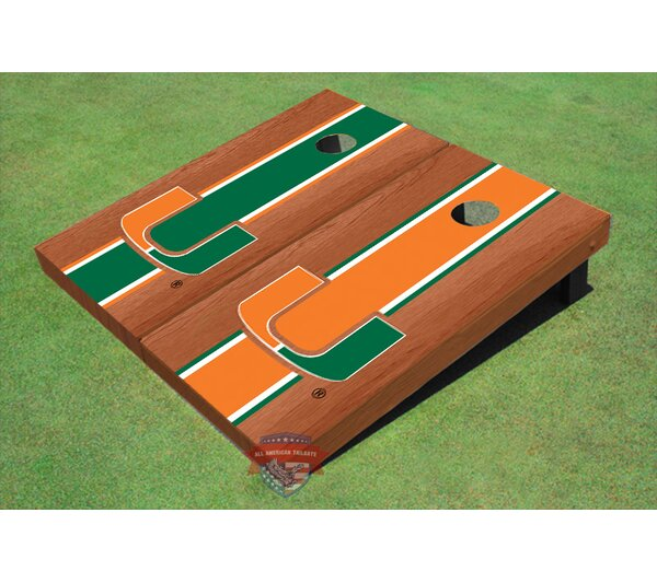 NCAA Rosewood Alternating Long Stripe Cornhole Board (Set of 2) by All American Tailgate