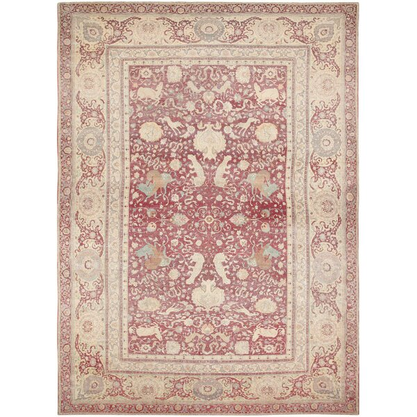 One-of-a-Kind Turkish Hand-Knotted Pink 17'2 x 23'9 Wool Area Rug