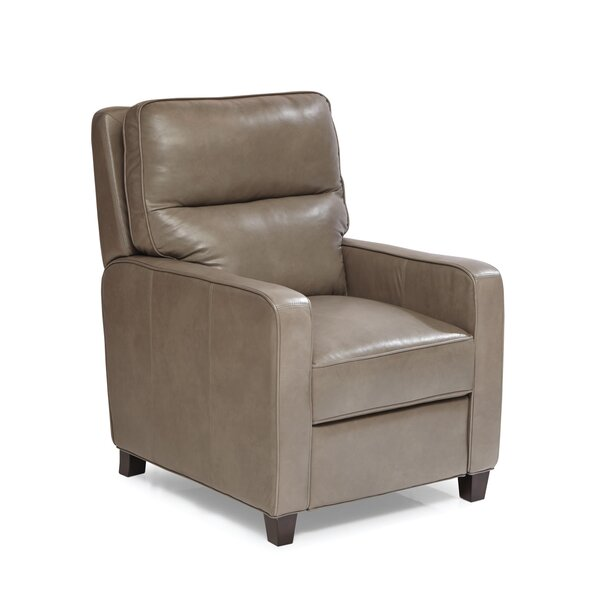 Flythe Leather Manual Recliner by Latitude Run