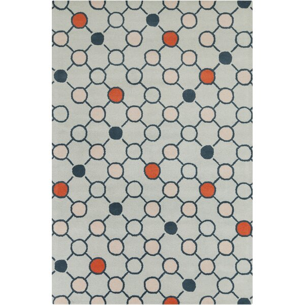 Burns Patterned Contemporary Wool Gray Area Rug by Wrought Studio