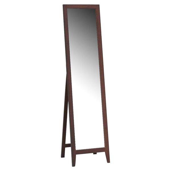 Cloninger Wood Standing Mirror by Mercury Row