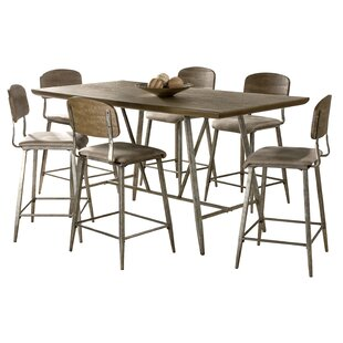Reviews Georgia 7 Piece Counter Height Dining Set By17 Stories