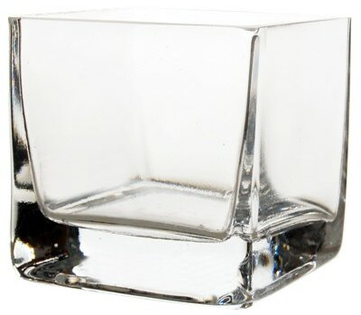 Cube Glass Votive (Set of 24) by CYS-Excel