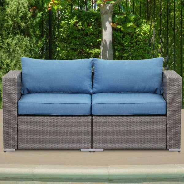 Gunnison Outdoor Loveseat with Cushions by Ebern Designs