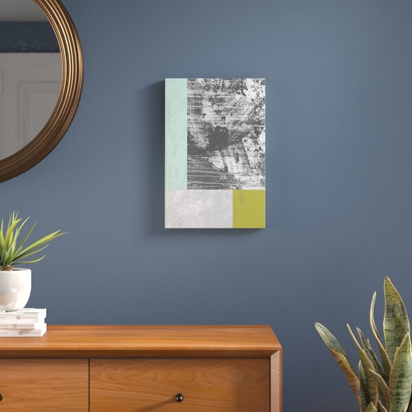 Geometric Grunge II Graphic Art on Wrapped Canvas by Langley Street