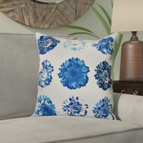 Willa Floral Outdoor Throw Pillow by Bungalow Rose