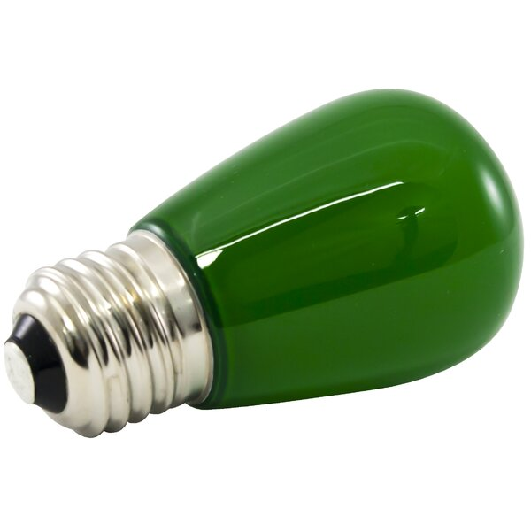 1.4W Green Frosted 120-Volt LED Light Bulb (Set of 25) by American Lighting LLC