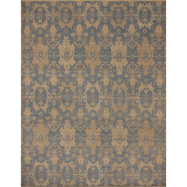One-of-a-Kind Rothley Fine Oushak Aitana Hand-Knotted Blue Area Rug by Canora Grey