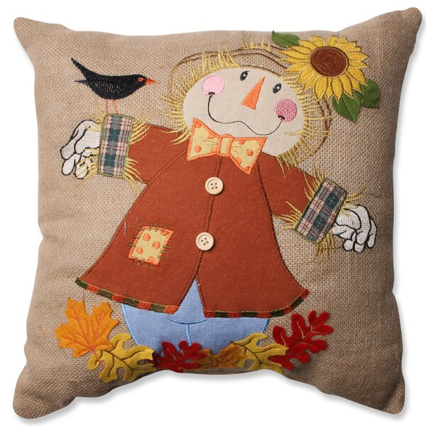 Harvest Scarecrow Throw Pillow by Pillow Perfect