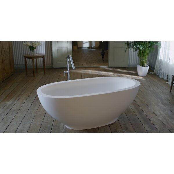 Karolina 70.75 x 35.5 Soaking Bathtub by Aquatica