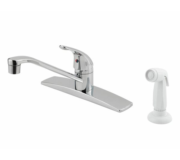 Pfirst Series Single Handle Deck Mounted Kitchen Faucet with Side Spray by Pfister