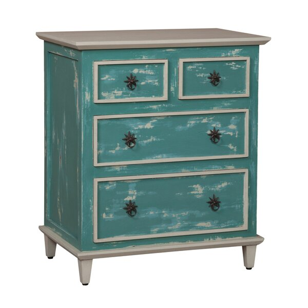 Hartly Cottage Side 4 Drawer Accent Chest by Bay Isle Home