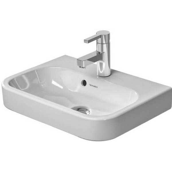 Happy D. Ceramic 20 Wall Mount Bathroom Sink with Overflow by Duravit