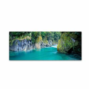 Blue Pools, NZ by David Evans Photographic Print on Wrapped Canvas by Trademark Fine Art