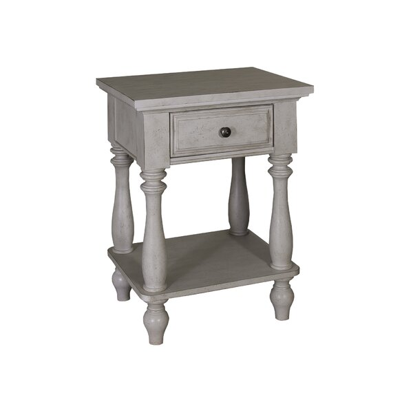 Philomena 1 Drawer Nightstand by Lark Manor