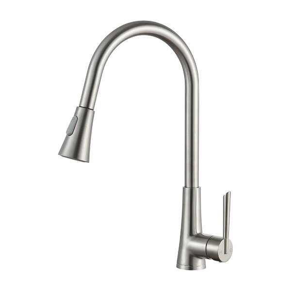 Tulip Series Pull Out Single Handle Kitchen Faucet by ANZZI