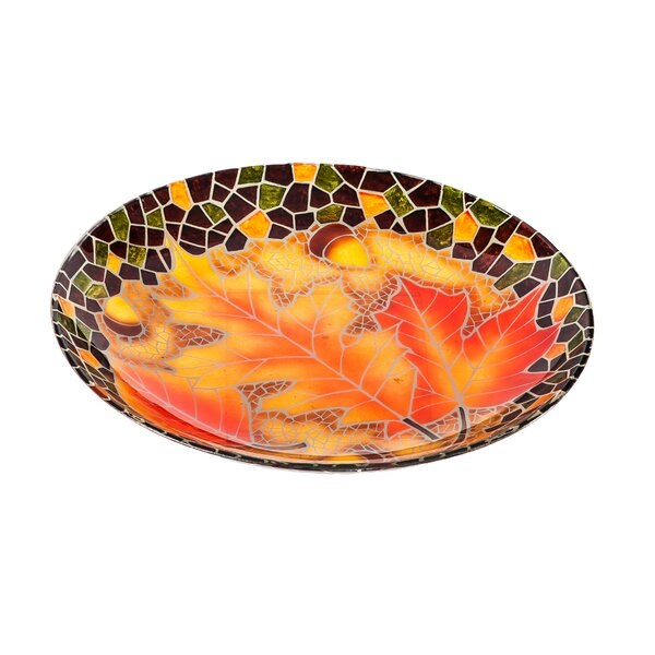 Fallen Leaves Bird Bath by Evergreen Flag & Garden