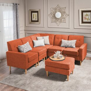 Weisser Mid Century Sectional with Ottoman