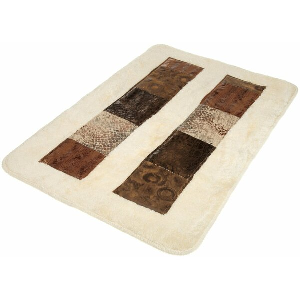 Zambia Banded Bath Rug by Sweet Home Collection