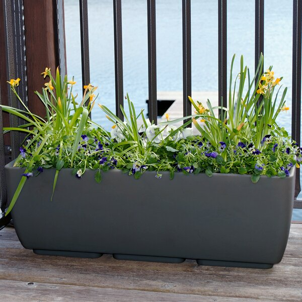 Plastic Rail Planter by RTS Companies