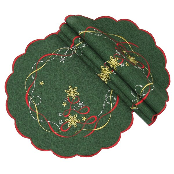 Magical Christmas Round Placemat (Set of 4) by The Holiday Aisle