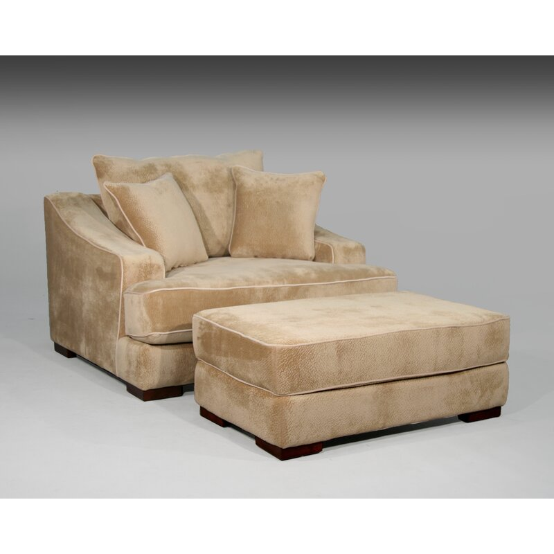 Marina Chair And A Half And Ottoman