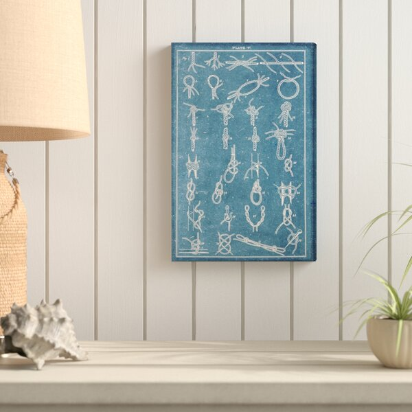 Nautical Knots Graphic Art on Canvas by Breakwater Bay