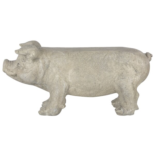 Spearman Stone Pig Garden Bench by August Grove August Grove