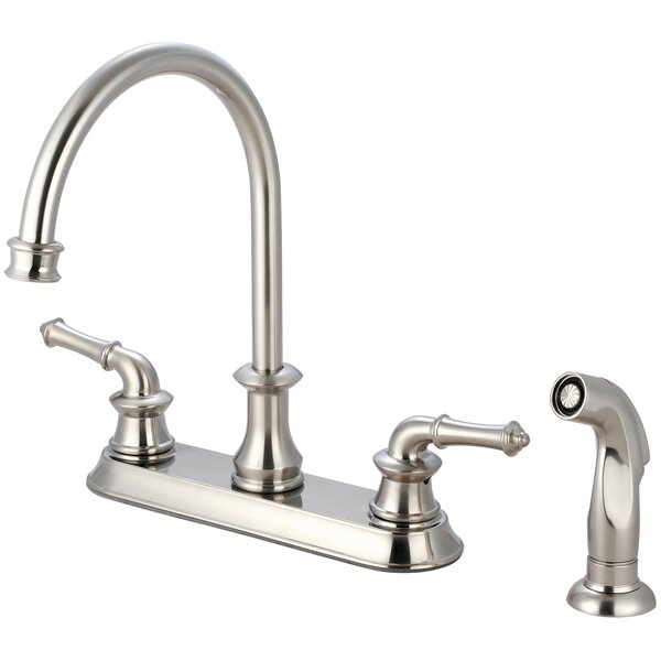 Double Handle Kitchen Faucet with Side Spray by Pioneer