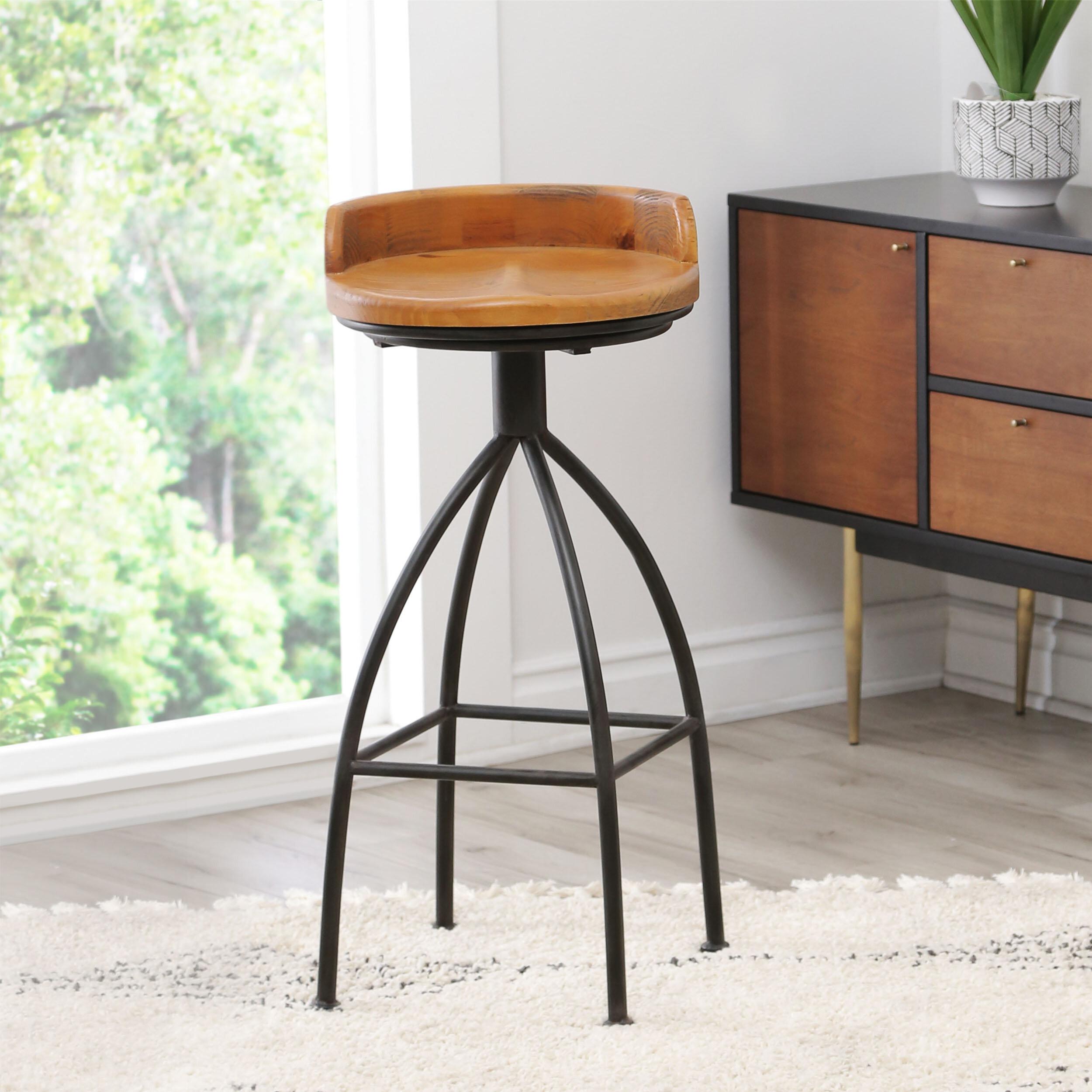 Stupendous Roussillon Industrial 30 Swivel Bar Stool Ibusinesslaw Wood Chair Design Ideas Ibusinesslaworg