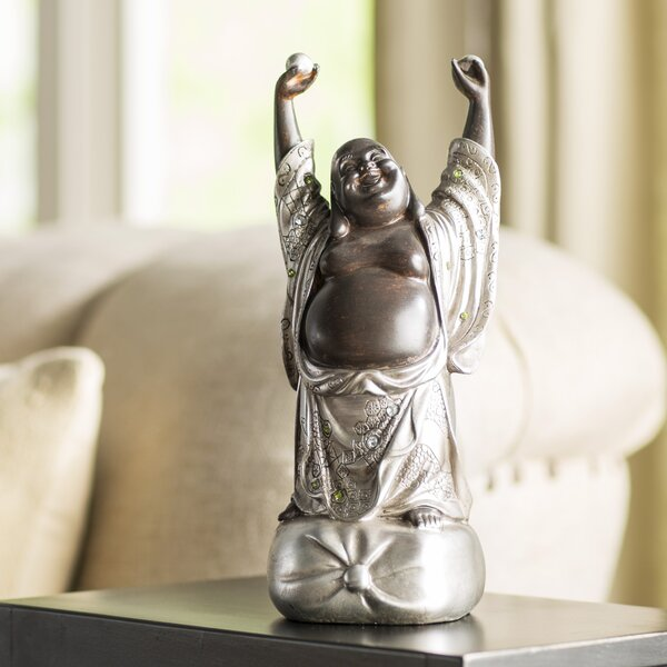 Standing Laughing Buddha Figurine by World Menagerie