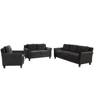 Belvoir 3 Piece Standard Living Room Set by Latitude Run®