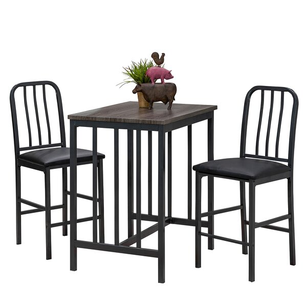 Villalba 3 Piece Pub Table Set by Williston Forge